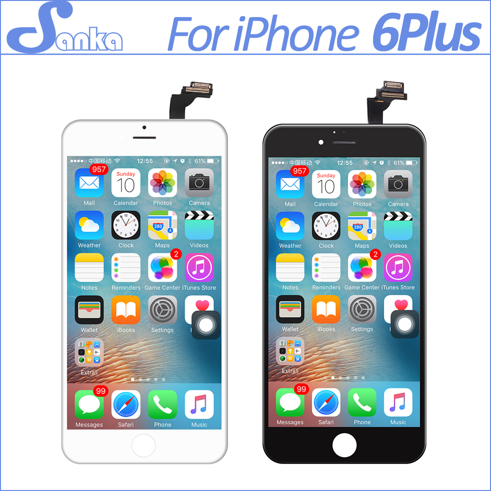 SANKA 5PCS For iPhone 6PLUS LCD Display Digitizer Touch Screen Replacement Assembly Screen Pantalla LCD Mobile Phone Parts Tools
