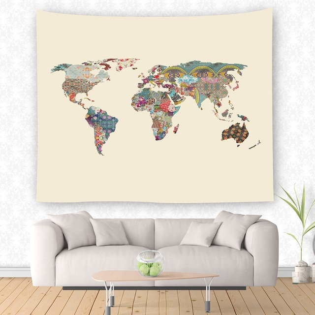 Drop shipping ymqy world map wall hanging tapestry wall decoration drop shipping ymqy world map wall hanging tapestry wall decoration cloth hanging tapestries yoga picnic mat gumiabroncs Gallery