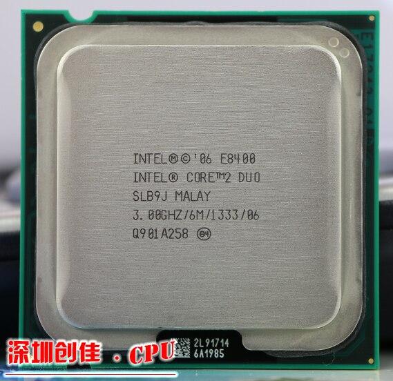 Origianl Intel Core 2 Duo E8400 CPU Processeur (3.0 Ghz/6 M/1333 GHz) Prise 775