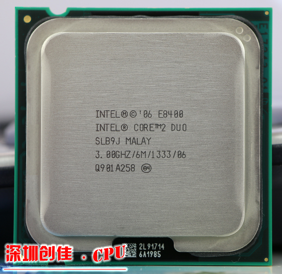 Origianl Intel Core 2 Duo E8400 CPU Processore (3.0 Ghz/6 M/1333 GHz) Presa 775