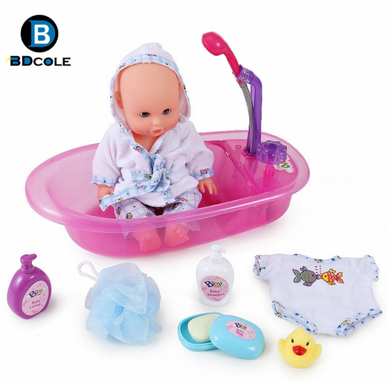 Bad Toys For Girls : Bdcole inches cm reborn baby doll bath toy purple