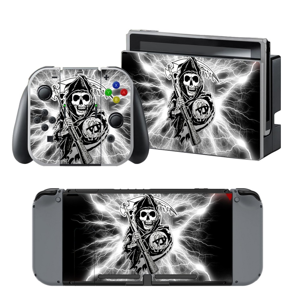 Newly Arrival Vinyl Skin Sticker for Nintendo Switch Console Protector Cover Decal Vinyl Skin for Skins Stickers 0121