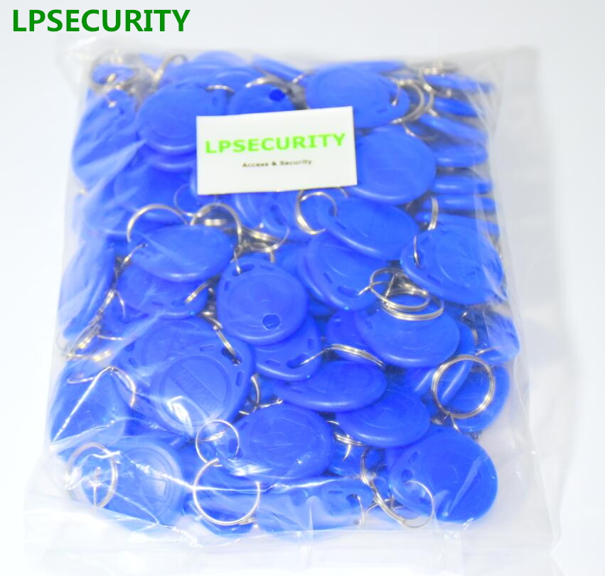 LPSECURITY <font><b>100</b></font> pieces 125Khz Keychains <font><b>RFID</b></font> Proximity ID Card Token Tags Key Fobs for access control image