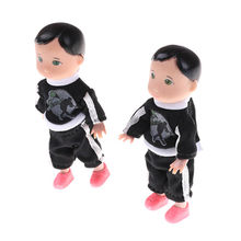 1 pcs fashion Cute Baby Boy Son Dolls Super Small Toys Boy Son Dolls For 10Cm New(China)