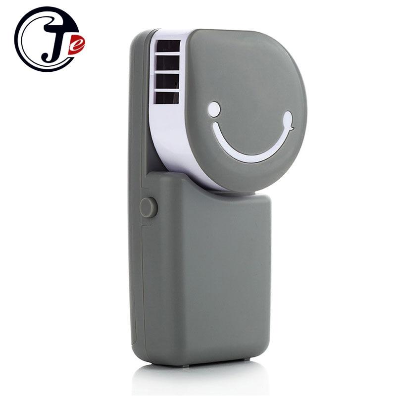 Fashion Smile Rechargeable No Leaf USB MINI Fan Silence Ventilador Desktop Air Conditioner bladeless Fan Controller Ventilador portable usb no leaf fan mini bladeless refrigeration desktop air conditioner y05 c05