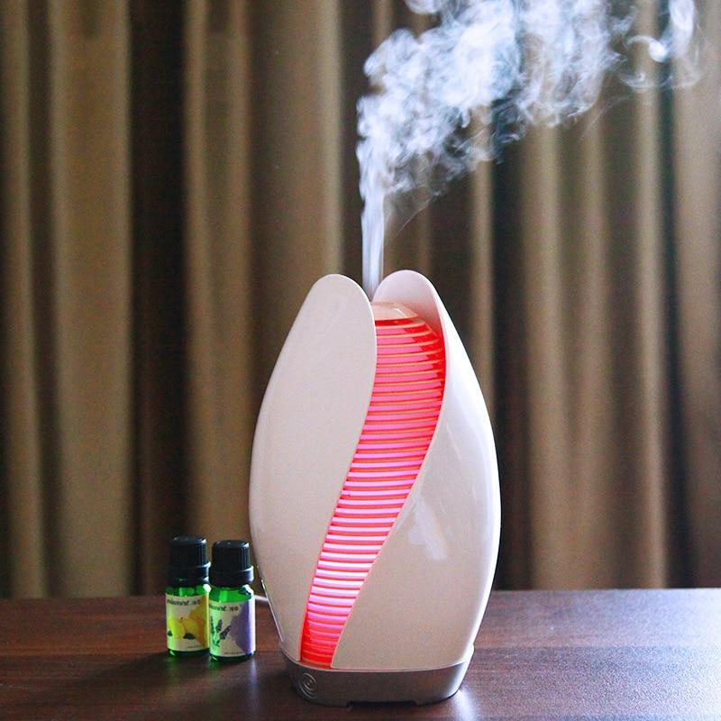 Flower Bud Style 110ML Capacity Night Light Ultrasonic Humidifier Mist Maker Desktop Fashion Essential Oil Aroma Diffuser