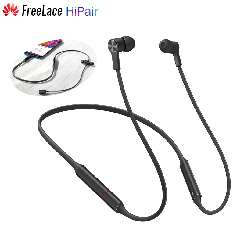 Original Huawei FreeLace Bluetooth 5 0 Wireless Headset Earphone HiPair Fast Charge 18h Playback Symmetry ENC