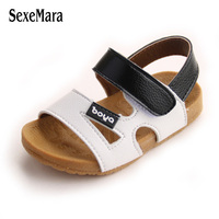 2017 Grace Baby Beach Shoes Breathable High Quality Leather Sandals Open Toe Soft Cow Muscle Sole