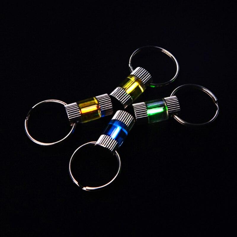 Automatique Lumière 25 Ans Tritium Gaz Lumière Clé Anneau Titane Alliage Fluorescent tubes Porte-clés Tube De Sauvetage D'urgence Lumières