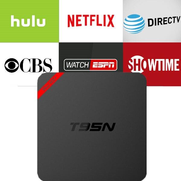 Netflix caja T95N 6,0 caja de TV con 1 año de Netflix Idioma inglés cuenta normal el trabajo de garantía en Set top box Smarttv teléfono inteligente