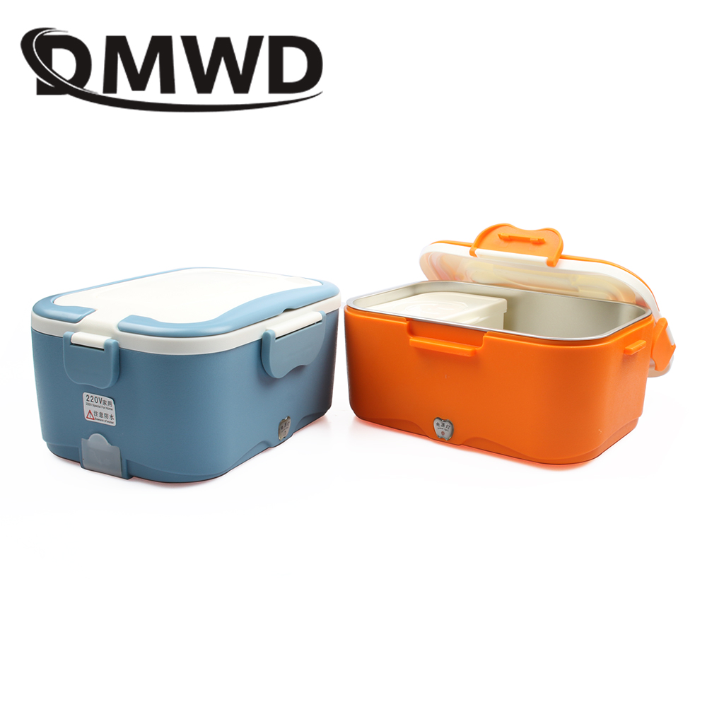 1.5L Mini Lunch box stainless steel liner electric food heating insulation boxes for home and car use EU US plug 220V 12V 24V aaa quality thermal insulated 3d print neoprene lunch bag for women kids lunch bags with zipper cooler insulation lunch box