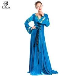 Rolecos women blue evening dress medieval renaissance victorian dress costume ball gown dresses retro palace party.jpg 250x250