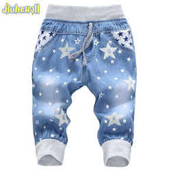 2017 hot sale boy girl summer denim jeans children comfortable pants baby elastic waist jeans pants.jpg 250x250