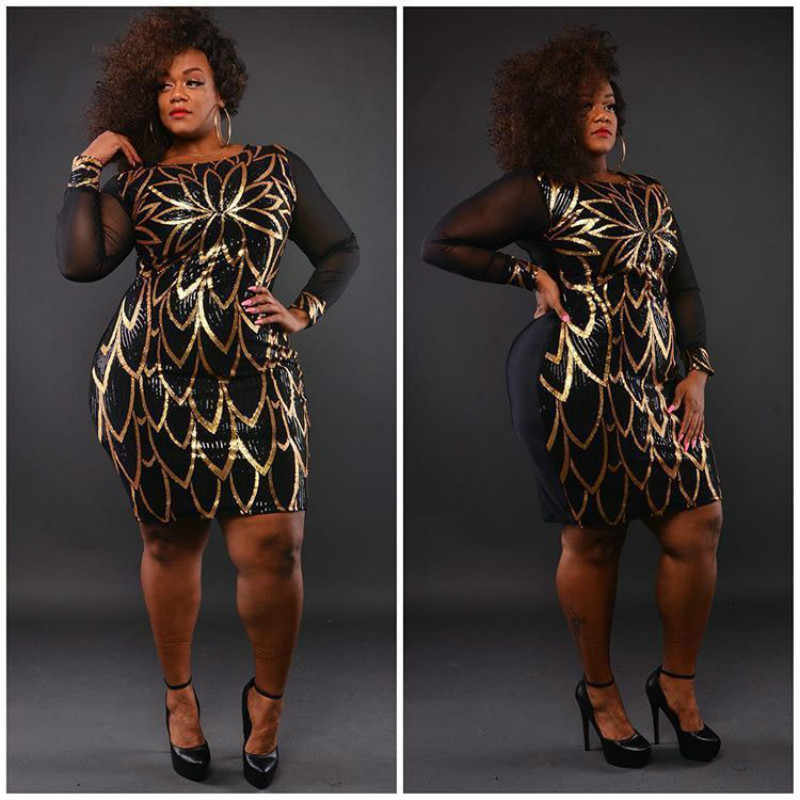 4cfe815a15 sequin glitter dress patchwork mesh sexy see through long sleeve woman  clothes vestido ukraine party bodycon clothes plus size