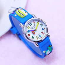 2018 new hot seller children boys 3D cartoon silicone quartz