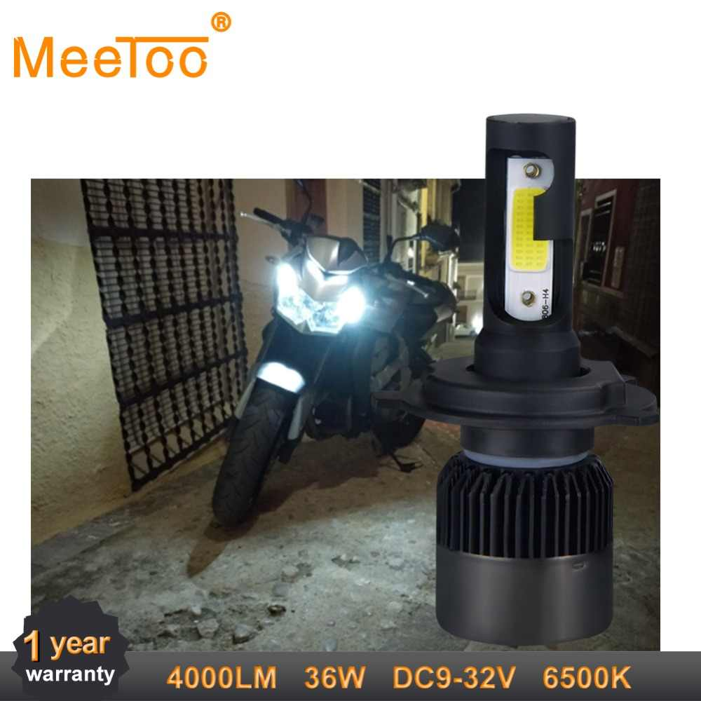 Meetoo Motorcycle Headlight H4 Led bulb 4000LM Motorbike Light 36W Super White 6500K Moped Scooter Outdoor Lighting Hi-Lo lights