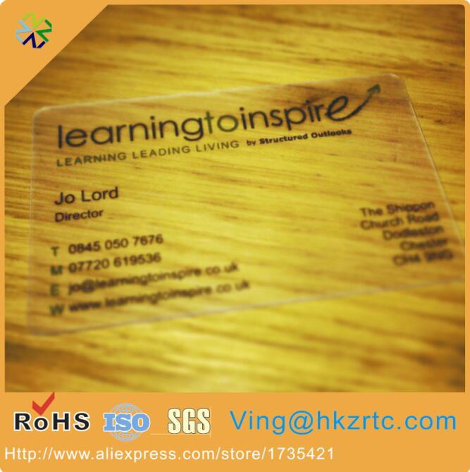 (1000pcs/lot) Matt finish Plastic Transparent Business Cards/Visiting Cards/ Name Cards berlingo бумага для заметок с липким краем 7 6 х 5 1 см цвет голубой 100 листов