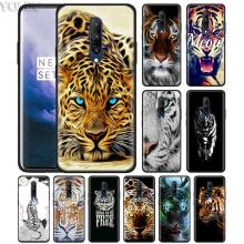 Cute Tiger Abstract Tiger Phone Case for Oneplus 7 7Pro 6 6T Oneplus 7 Pro 6T Black Silicone Soft Case Cover