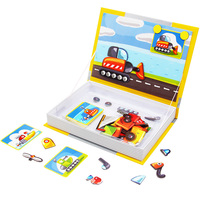 DODOELEPHANT Magnetic Stickers 3D Puzzle Board Kits Jigsaw Toys For Children Magnetic Toys Educational For Kids
