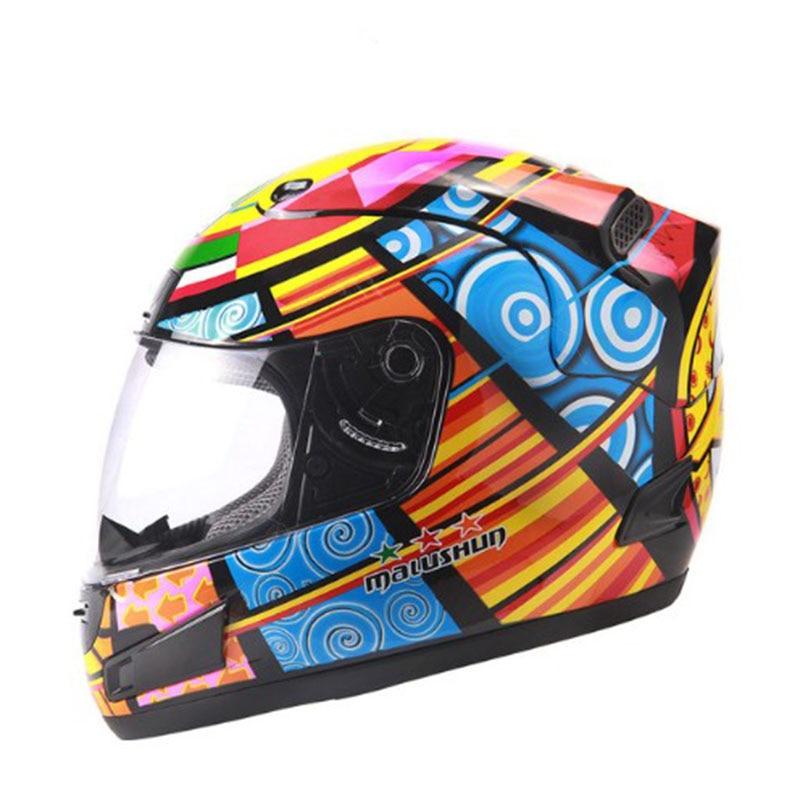 Motorcycle helmet Brand Malushun Valentino Rossi helmet Kart racing full face helmet Men motociclistas capacete DOT approved