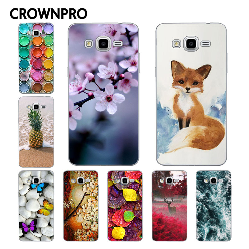 Galleria fotografica CROWNPRO Soft TPU FOR Coque Samsung Galaxy Grand Prime Case G530 G531H Painting Phone Back FOR Funda Samsung Grand Prime Case