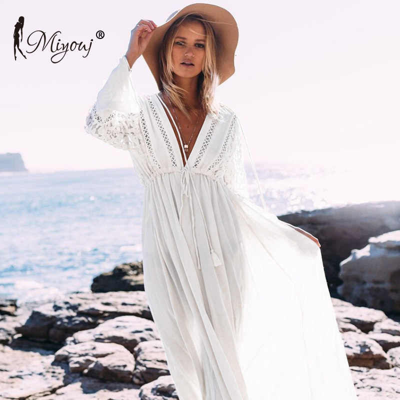 054f3baba855c Detail Feedback Questions about MIYOUJ Kaftan Long Beach Dress 2018 ...