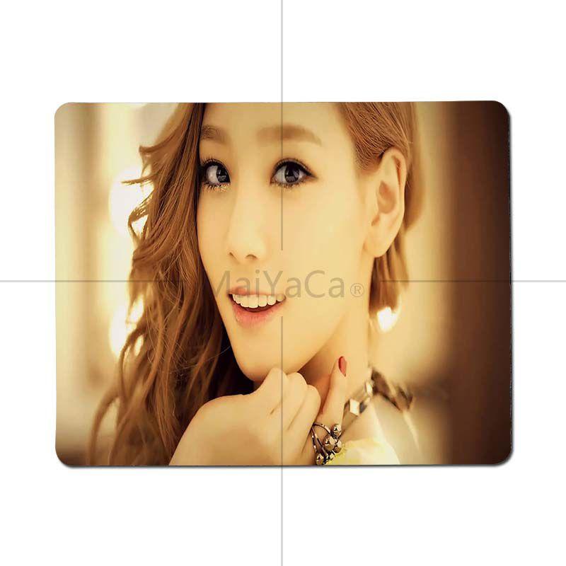 MaiYaCa Taeyeon Yoona SNSD компьютерных игр Мышь коврики Размеры для 180x220x2 мм и 250x290x2 мм Малый Мышь pad