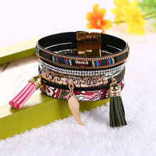 Buckle Colored Tassels Bracelet