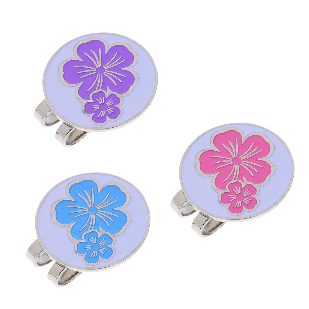 Portable Stylish Flower Golf Hat Clip With Detachable Magnetic Golf Ball Marker Golf Gift For Friends Families Golf Lovers