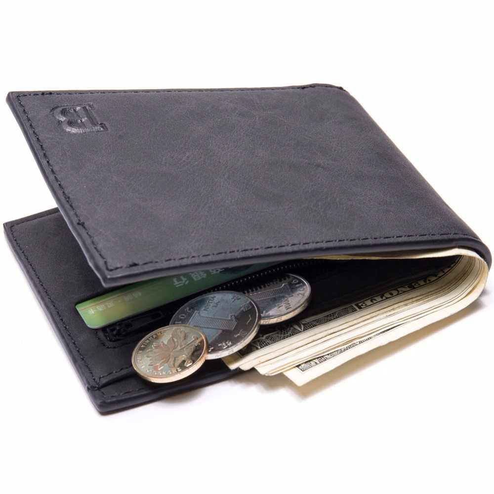Black Quality Coin Bag Men Wallets Man Wallet Small Money Purses Short Male Wallet PU Card Holder Men's Purses Pocketbook W03