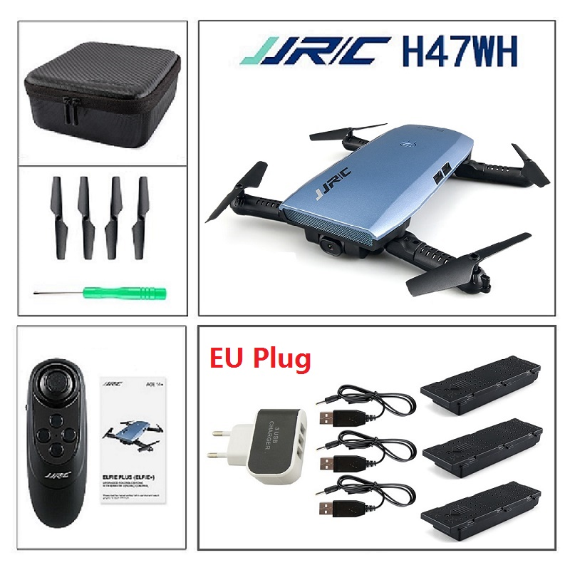 JJRC H47 H47WH Beauty Mode 720P Camera WIFI FPV Foldable Drone G-Sensor 6Axis Altitude Hold RC Quadcopter VS H37 E50 T37 E56