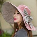 The Summer Tide Along The Korean Super Ladies Hat Folding Summer Beach Hat Colorful Sun Hat