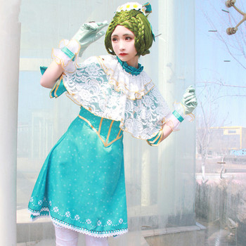 Женское платье для косплея с принтом Эмили Дир, Дворцовый костюм Доктора, платки, носки, перчатки, запястья, головной убор, банты, стиль игры