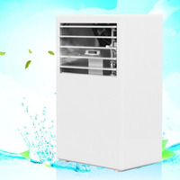 White Auto Portable Desktop Mini Car Air Conditioner Humidification Fan Cooler Touch Mist Spray Easy Control 24V