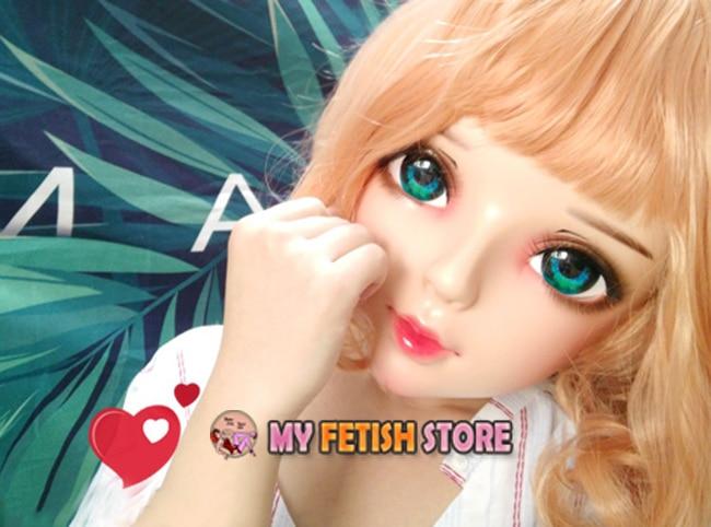 Máscara para cosplay de meninas e kigurumi,