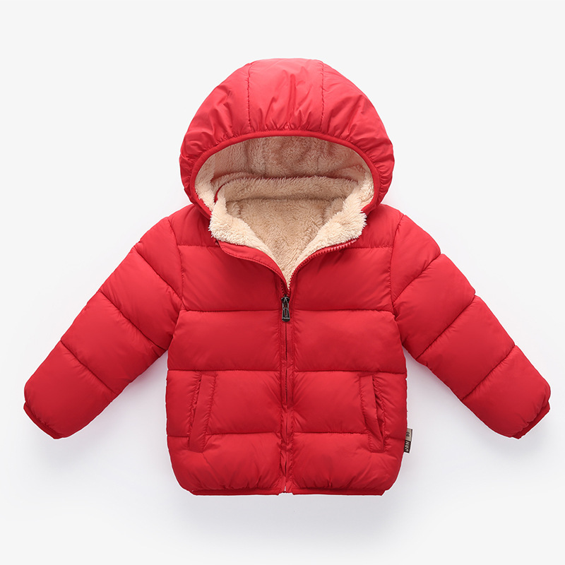 New Toddler Little Girls Boys Winter Warm Clothing Fleece Down Parkas Wadded Jacket Outerwear Cotton-Padded Coats 2 3 4 5 Years