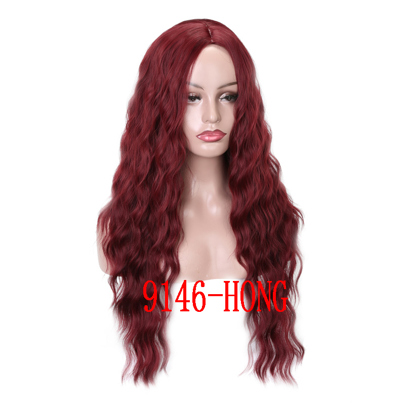 MERISI HAIR 26 inch Long Wavy Black Wigs  Synthetic Hair for Women Natural Middle Part Heat Resistant Hair(China)
