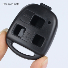 цена на 3 Button Black Car Folding Key Remote Control Key Replacement Shell For Toyota Old Prado Key Case Shell Cover Car Auto Parts