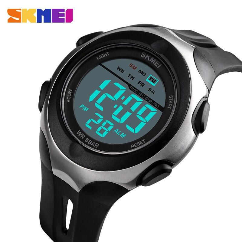 Skmei Sports Watches Alarm-Clock El-Light Digital Chronograph Wrist-Date Men Week