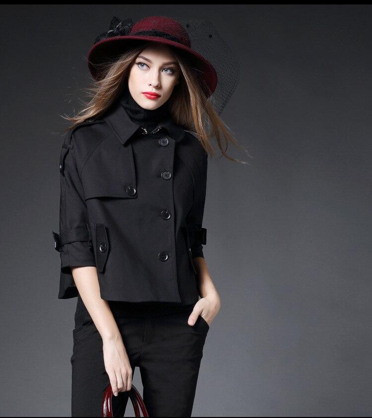 Kaki kaki Femme Pardessus Classique Tranchée Style Court Femmes Outfit Manteau La Luxueux Qualité Tops De Angleterre Haute Noir Taille rouge Plus 2018 UOqw4