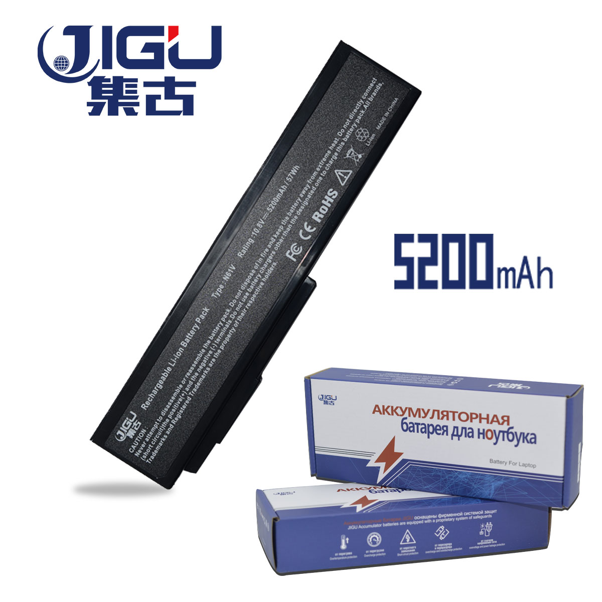JIGU 6 Cells Laptop Battery For Asus M50 G50 X55 M60 N53 A32-M50 A32-N51 A33-M50 A32-X64
