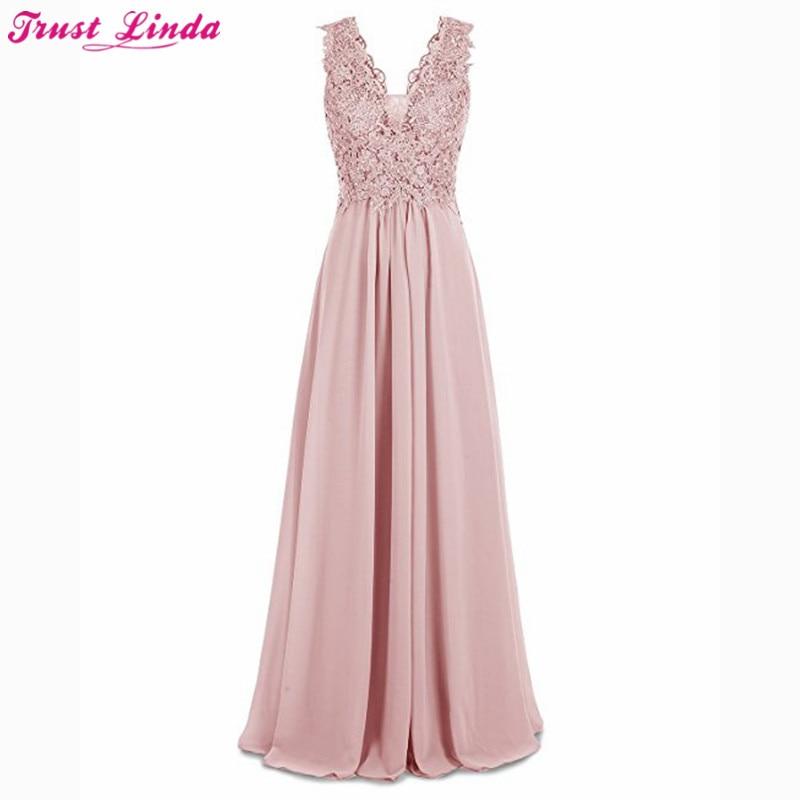 Bridemaid платья Vestido Longo; новые дешевые розовый аппликации платья невесты Свадебная вечеринка платье Vestido реальные фотографии изготовление под