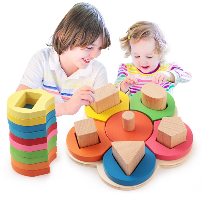 Wood Building Blocks Domino Flower Caterpillar Stacker Extract Jenga Game Gift Kids Baby Early Educational Wooden Toys Set ZS080 daily by togas подушка декоративная 40х40