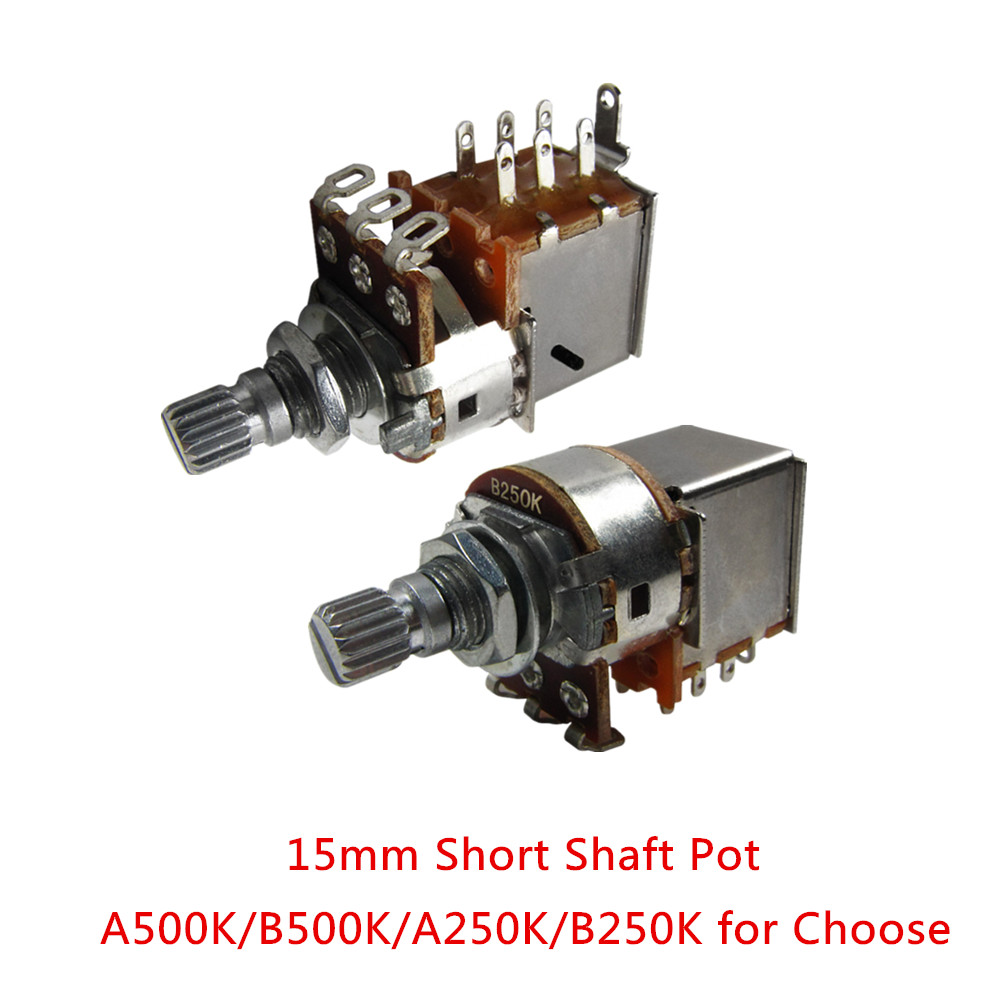 medium resolution of new 2pcs push pull guitar switch pots short shaft volume a500k guitar potentiometer 15mm shaft in guitar parts accessories from sports entertainment on