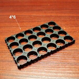 Image 5 - 10ピース/ロット18350 18500 18650リチウム電池アセンブリ固定ブラケットabs難燃性プラスチックバックルコンビネーションブラケット