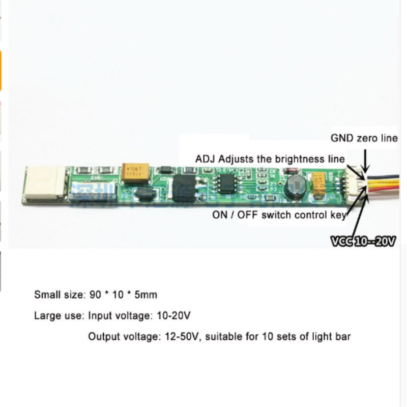 LED boost board, ultra-small volume notebook dedicated lamp modified LED light bar booster board
