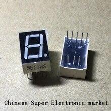 10 шт. 0,56 дюймов 7 сегментный 1 цифровой светодиодный дисплей Супер Красный общий катод