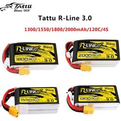 NewTattu R-line 120C V3 1300/1550/1800/2000mAh 120C 4S 14.8V Lipo Battery with XT60 Plug for FPV Racing Drone RC Quadcopter