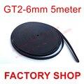 5 Meters gt2 cinturón ancho de 6mm De Goma 2 GT-6mm Pequeña Backlash para impresora 3d RepRap Mendel CNC 2GT polea Alta calidad