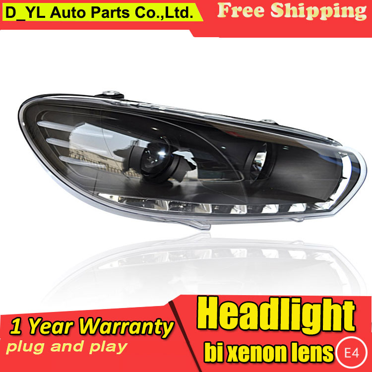 D YL Car Styling for Honda accord Headlights 2008 2013 accord LED Headlight DRL Lens Double